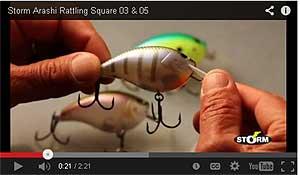 Storm Arashi Rattling Square Bill Crankbaits Video