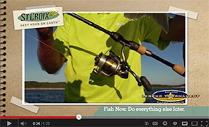 St. Croix Legend Tournament Bass Spinning Rods Video