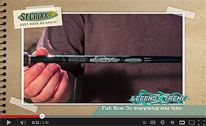 St. Croix LegendXtreme Casting Rods Video