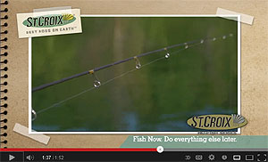 St. Croix Panfish Series Spinning rods Video
